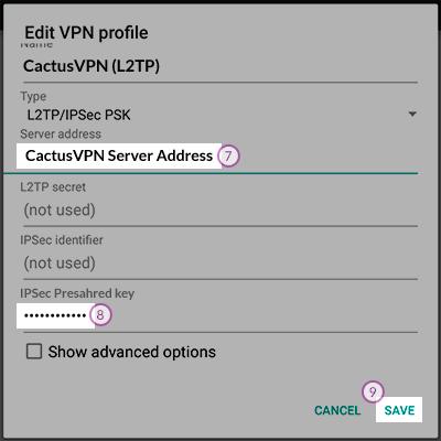 How to set up VPN on Android Lollipop | CactusVPN