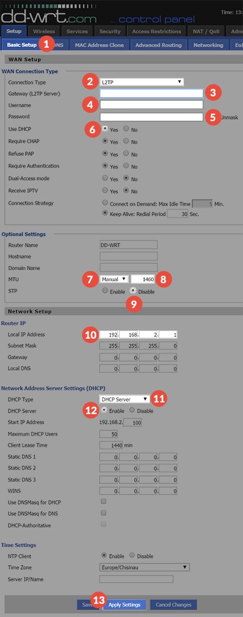 Setting up DD-WRT for VPN