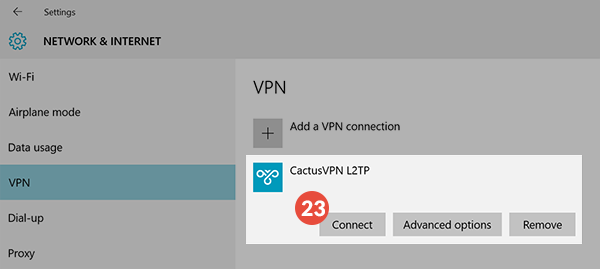 How to set up L2TP VPN on Windows 10: Step 11