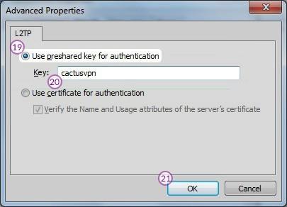 How to set up L2TP VPN on Windows 7: Step 11