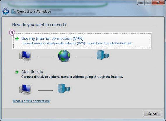 How to set up L2TP VPN on Windows 7: Step 4