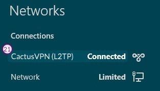 How to set up L2TP VPN on Windows 8: Step 12