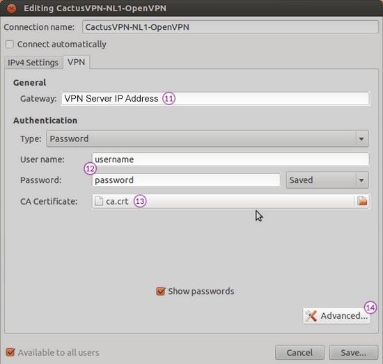 Add VPN on client computer (Mac)
