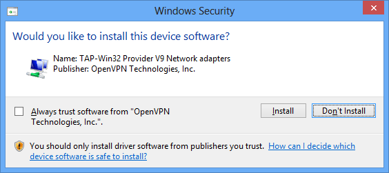 How to set up OpenVPN on Windows 10: Step 5