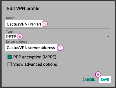 Connect to a PPTP VPN from your Android phone