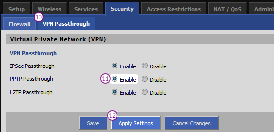 DD-WRT Router PPTP VPN Setup: Step 4