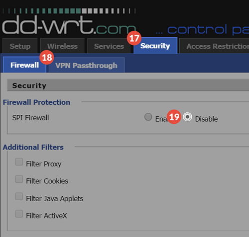 How to set up PPTP VPN on DD-WRT Routers: Step 2