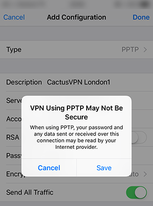 How to put vpn in iphone