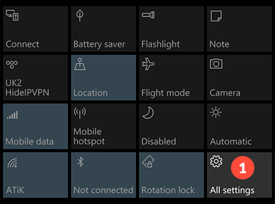 How to set up PPTP VPN on Windows 10 mobile: Step 1