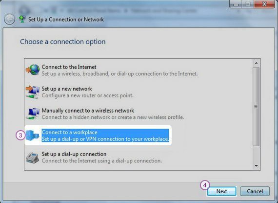 Windows7 PPTP VPN Setup: Step 3