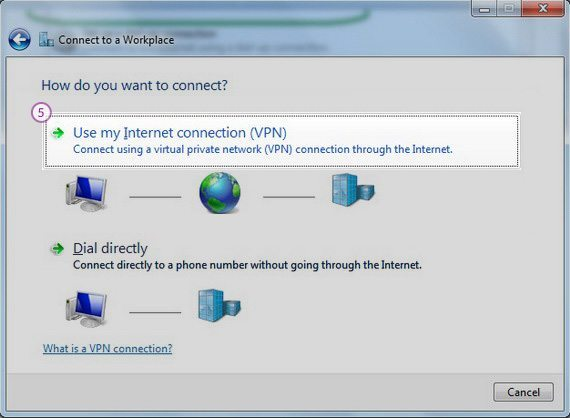How to set up PPTP VPN on Windows 7: Step 4