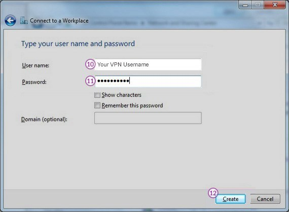 How to set up PPTP VPN on Windows 7: Step 6