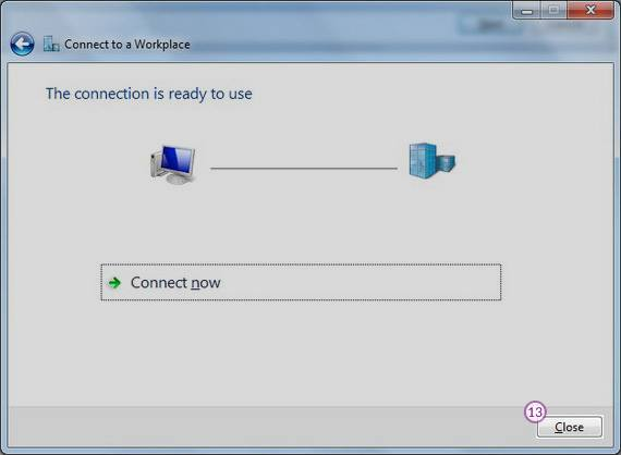 Windows7 PPTP VPN Setup: Step 7