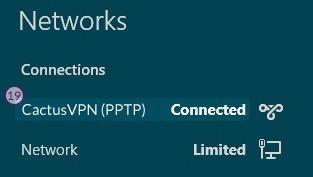 How to set up PPTP VPN on Windows 8: Step 11