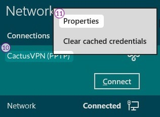 How to set up PPTP VPN on Windows 8: Step 7