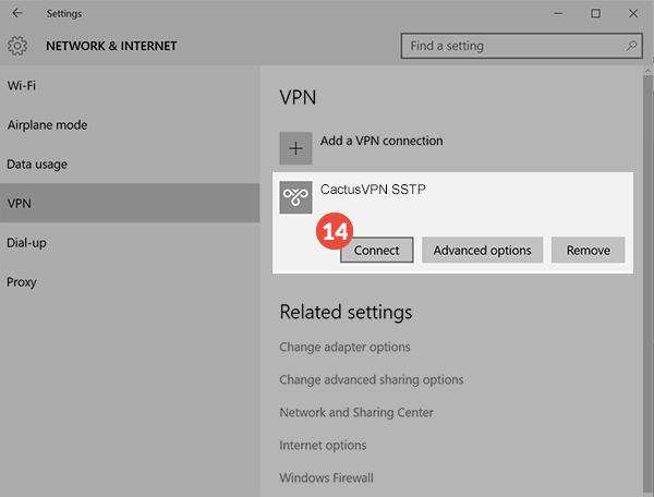 How to set up SSTP VPN on Windows 10: Step 6
