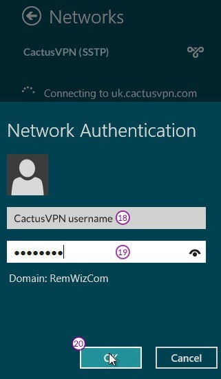 How to set up SSTP VPN on Windows 8: Step 10