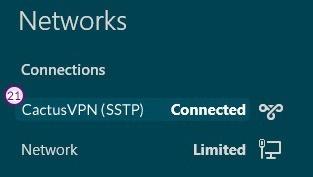 How to set up SSTP VPN on Windows 8: Step 11