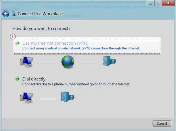 How to set up SSTP VPN on Windows 8: Step 4