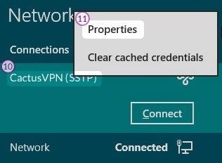 How to set up SSTP VPN on Windows 8: Step 7