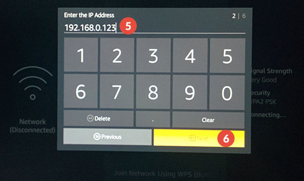 Amazon Fire TV and Fire TV Stick Smart DNS Setup: Step 4