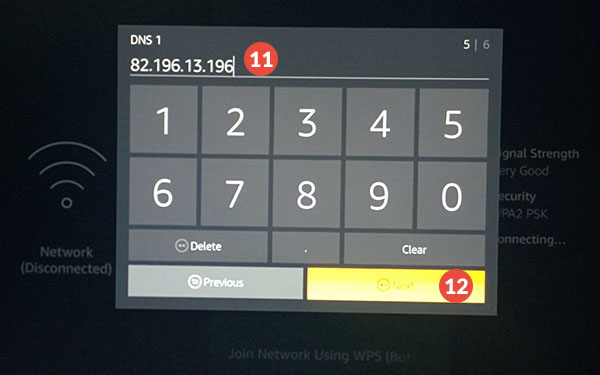 Amazon Fire TV and Fire TV Stick Smart DNS Setup: Step 7