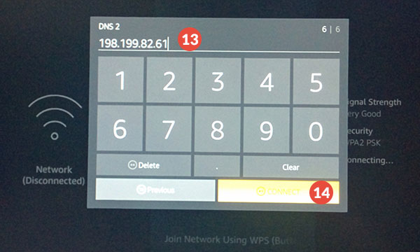Amazon Fire TV and Fire TV Stick Smart DNS Setup: Step 8