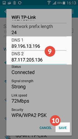 Android Smart DNS Setup: Step 8