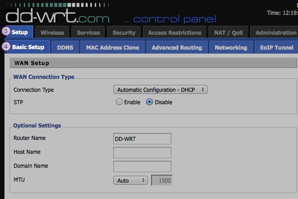 DD-WRT Smart DNS Setup: Step 2