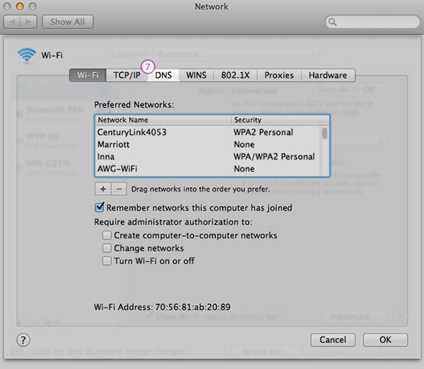 Mac-OS Smart DNS Setup: Step 5