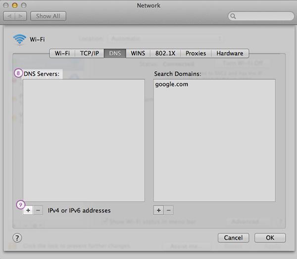 Mac-OS Smart DNS Setup: Step 6