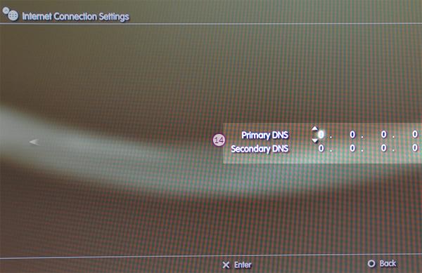 PS3 Smart DNS Setup: Step 12
