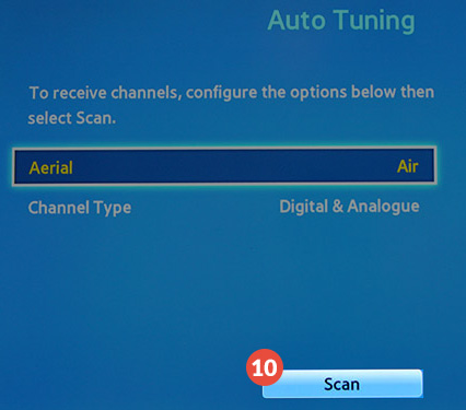 How to change region on Samsung Smart TV: Step 12