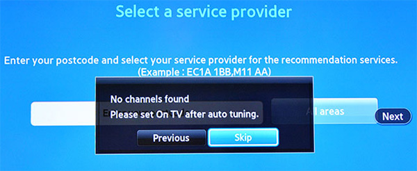 How to change region on Samsung Smart TV: Step 18