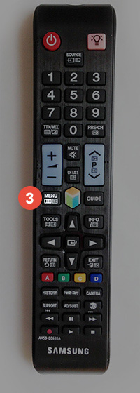 How to change region on Samsung Smart TV: Step 3