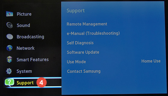 How to change region on Samsung Smart TV: Step 4