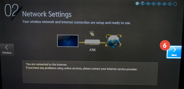 How to change region on Samsung Smart TV: Step 10
