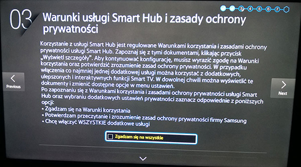 How to change region on Samsung Smart TV: Step 11