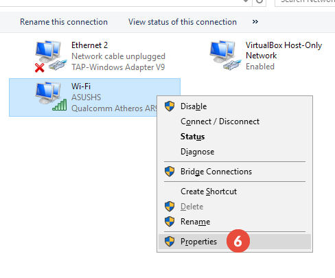 How to set up Smart DNS on Windows 10: Step 4