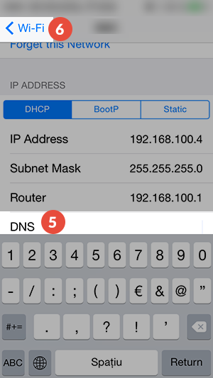 iPhone Smart DNS Setup: Step 5