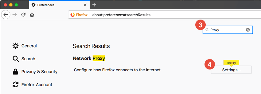 Firefox Proxy Setup: Step 2