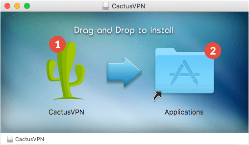 How to set up CactusVPN App for macOS: Step 1