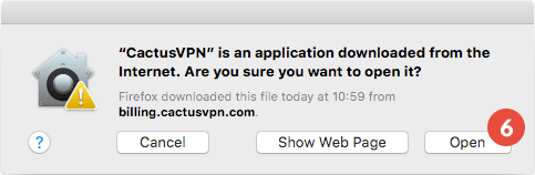 How to set up CactusVPN App for macOS: Step 3