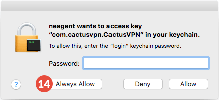 How to set up CactusVPN App for macOS: Step 6