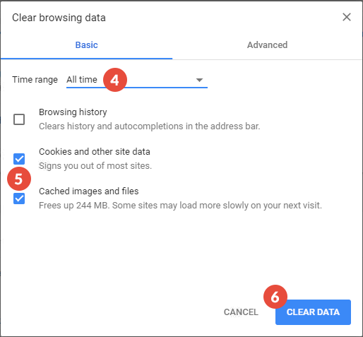 How to Clear Cache and Cookies on Chrome | CactusVPN