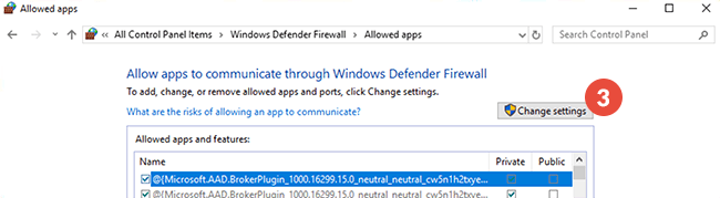 How to add exclusions for Windows Defender Firewall in