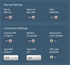 VPN Software Settings
