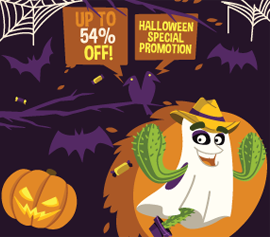 Halloween VPN promotion