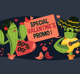 Valentine's Day VPN promotion