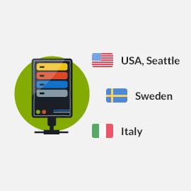 VPN Servers Seattle, Italy, Sweden